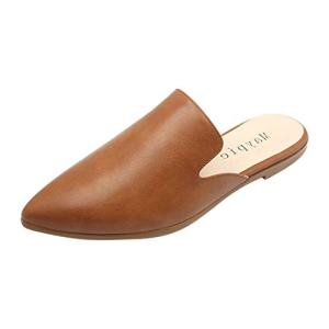 MAYPIE Womens Flat Mules Closed Pointed Toe Slip On