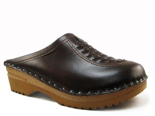 Troentorp Women's Båstad Wright Cola Leather Clogs