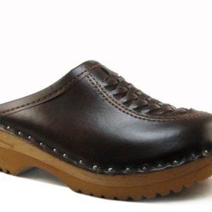 Troentorp Women's Båstad Wright Cola Leather Clogs