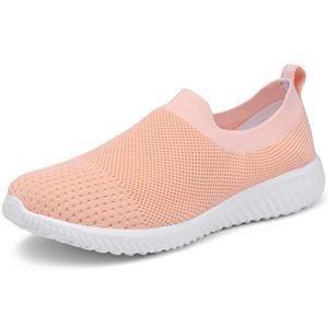 LANCROP Women's Walking Nurse Shoes - Mesh Slip on Comfortable Sneakers