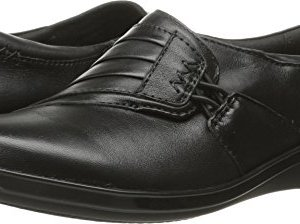 CLARKS Women's Everlay Iris Black Leather