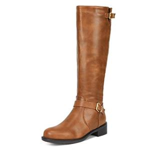 DREAM PAIRS Women's Intruder Camel Knee High Boots