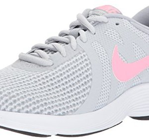 Nike Women's Revolution 4 Running Shoe, Pure Platinum/Sunset Pulse-Wolf Grey, 6 Regular US