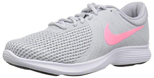Nike Women's Revolution 4 Running Shoe, Pure Platinum/Sunset Pulse-Wolf Grey