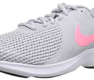 Nike Women's Revolution 4 Running Shoe, Pure Platinum/Sunset Pulse-Wolf Grey
