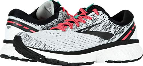 Brooks Women's Ghost 11 White/Pink/Black 8.5 B US