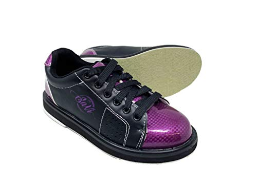 SaVi Bowling Products Women's Classic Purple/Black Bowling Shoes