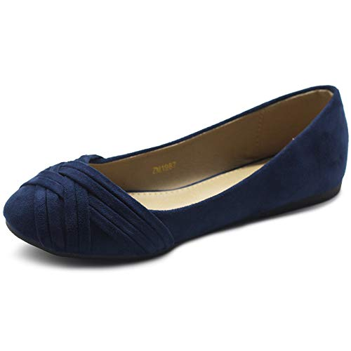 Ollio Womens Ballet Shoes Cute Casual Comforts Flats