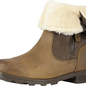 Sorel Womens Emelie Foldover Fleece Winter Snow Waterproof