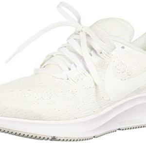 Nike Women's Air Zoom Pegasus 35 Running Shoes (8, White/Pure Platinum)
