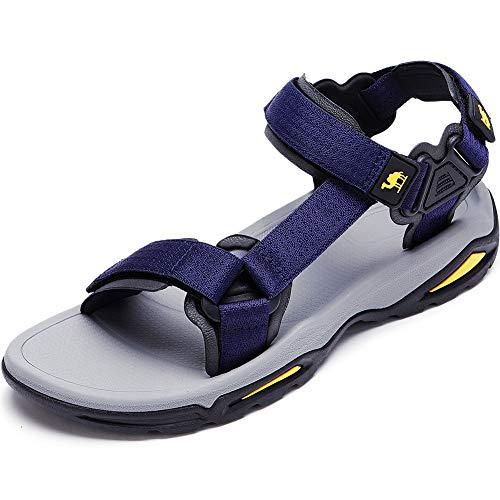 CAMEL CROWN Women's Sport Sandals Open Toe Strap Sandal Summer Beach Outdoor Water Shoes (12 M US, Mens-Dark Blue)