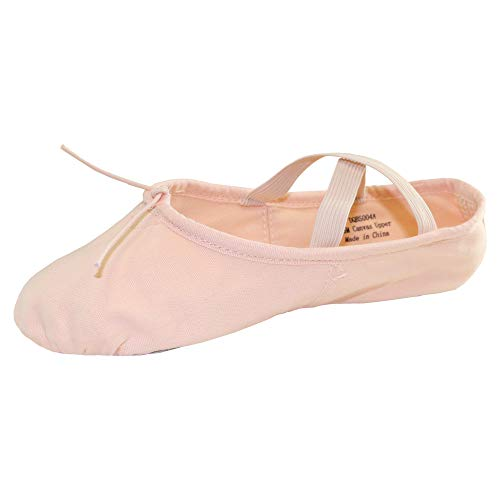 Danzcue Adult Split Sole Canvas Pink Ballet Slipper