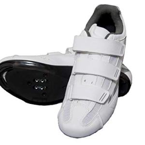 tommaso Pista Women's Road Bike Cycling Spin Shoe Dual Cleat Compatibility - White/Silver - 39