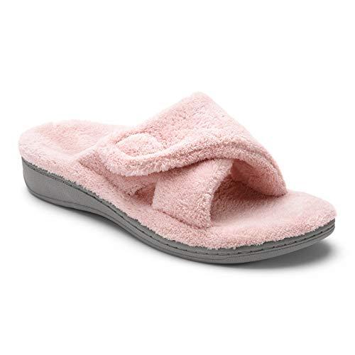 Vionic Women's Indulge Relax Slipper - Ladies Comfortable Cozy Adjustable