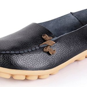 labato Women's Leather Loafers Breathable Slip on Driving Shoes