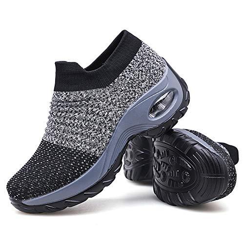 Women's Walking Shoes Sock Sneakers - Mesh Slip On Air Cushion Lady Girls