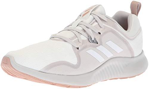 adidas Women's Edgebounce Mid Running Shoe, White/Grey/ash Pearl, 7.5 M US
