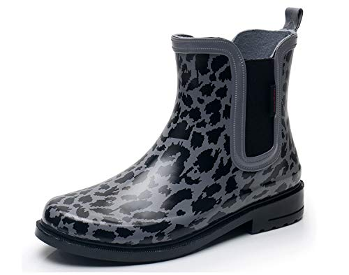 SOLARRAIN Women's Elastic Short Ankle Rubber Rain Boots