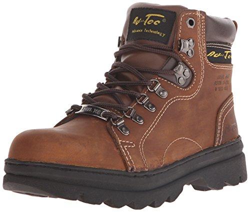 "AdTec Women's 6"" Steel Toe Work Boot Brown-W"