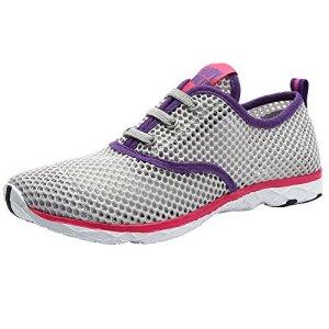 ALEADER Women's Quick Drying Aqua Water Shoes Gray