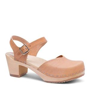 Sandgrens Swedish Wooden High Heel Clog Sandals for Women