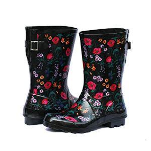 Z. Emma Women's Adjustable Buckle Outdoor Slip Resistant Waterproof