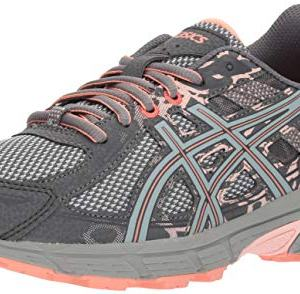 ASICS Gel-Venture 6 Women's Running Shoe, Carbon/Mid Grey/Seashell Pink