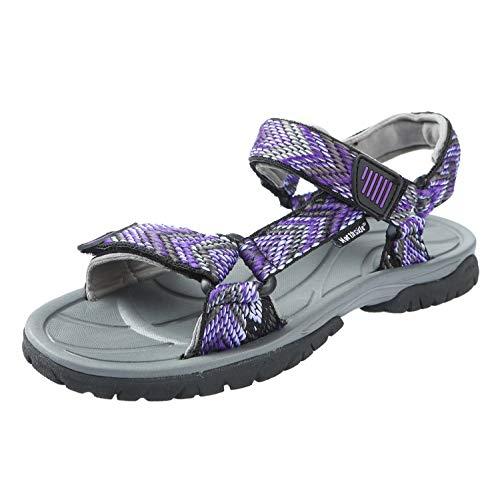 Northside Women's Seaview Sandal, Black/Violet