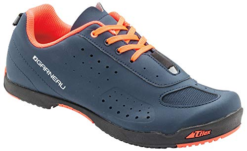 Louis Garneau Women's Urban Bike Shoes, Dark Night/Coral Mania
