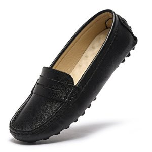 Artisure Women's Girls' Classic Handsewn Black Genuine Leather