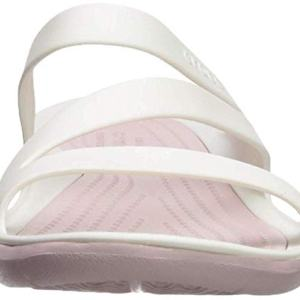 Crocs Women's Swiftwater Sandal Sport, white/rose dust