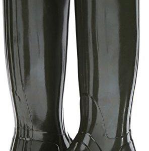 Hunter Women's Original Tall Gloss Dark Olive Shoe