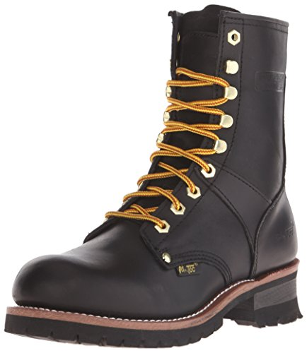 """AdTec 9"""" Super Logger Soft Toe Boots for Men, Leather Goodyear"""