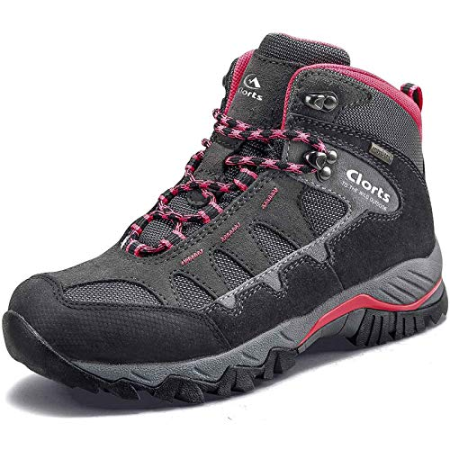 Clorts Women's Pioneer Hiking Boots Waterproof Suede Leather