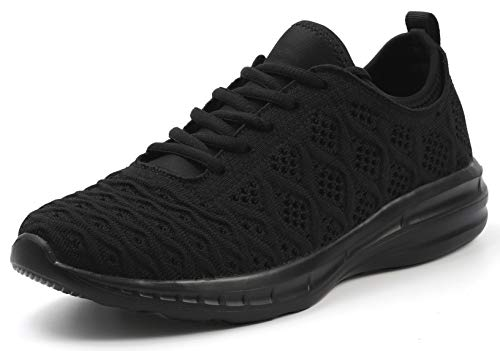 JOOMRA Women Walking Shoes All Black Fitness Daily Lightweight