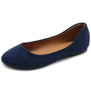 Ollio Womens Shoe Ballet Light Faux Suede Low Heels Flat