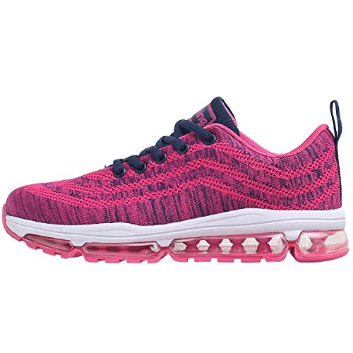 Impdoo Womens Air Cushion Tennis Running Shoes Lightweight Walking Fitness