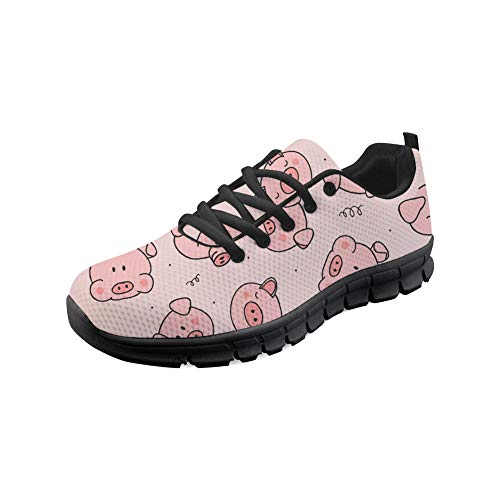 Bigcardesigns Fashion Sneakers Pig Printed Women City Walking Shoes
