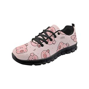 Bigcardesigns Fashion Sneakers Pig Printed Women City Walking Shoes