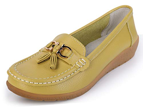 labato Women's Comfort Leather Casual Flat Driving Loafers Driving