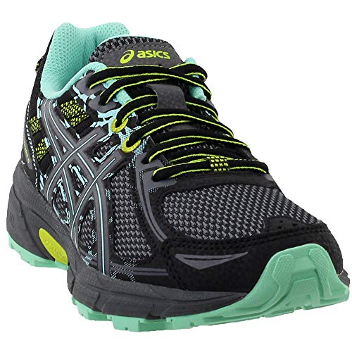 ASICS Women's Gel-Venture 6 Running-Shoes,Black/Carbon/Neon Lime,8 Medium US