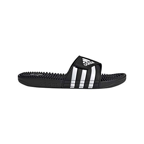 adidas Adissage, White/Black, 8 M US
