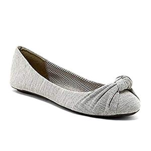 Charles Albert Women's Knotted Slip on Ballet Flats in Grey