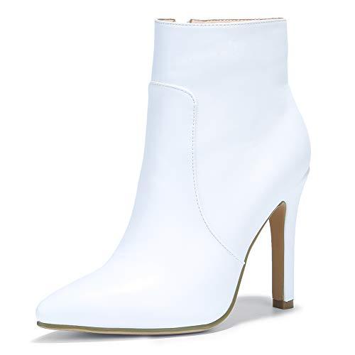 IDIFU Women's Vivian Classic Pointed Toe Ankle Booties High Stiletto