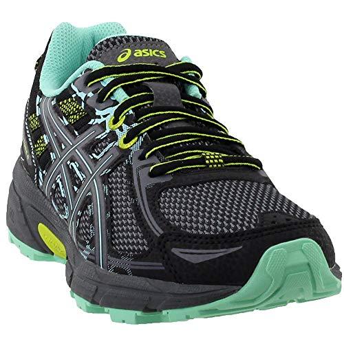 ASICS Women's Gel-Venture 6 Running-Shoes,Black/Carbon/Neon Lime