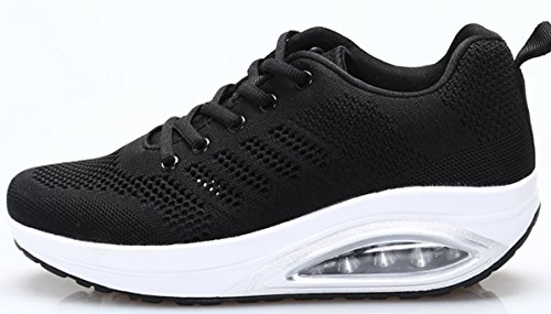 Women's Comfortable Platform Walking Sneakers Lightweight Breathable tennis flying weave design. Comfortable soles cushioning design,PERFECT FOR WALKING. Sole with PU polyurethane,non-slip,put on,prolong the lifetime of the sneakers. Generous and cute- the form of 5.5 cm elevated heel design,Applications:Walking,Casual,Running,Athletic. Please affirm the dimensions chart CM is foot size.Size is the usual sports activities girls sneakers dimension.US5.5=Eur36=22.5CM US6.5=Eur37=23.5CM US7=Eur38=24CM US8=Eur39=24.5CM US8.5=Eur40=25.5CM US9.5=Eur41=26CM US10=Eur36=26.5CM. MONEY BACK GUARANTEE - We are the one JARLIF vendor, and all merchandise are shipped from the US. Brand: JARLIF Style: Casual Shipped from: United states Sole materials: PU polyurethane Closure kind: Lace-up Please affirm the dimensions chart cm is foot size Us dimension 5.5=cn dimension 36=22.5cm Us dimension 6.5=cn dimension 37=23.5cm Us dimension 7=cn dimension 38=24cm Us dimension 8=cn dimension 39=24.5cm Us dimension 8.5=cn dimension 40=25.5cm Us dimension 9.5=cn dimension 41=26cm Us dimension 10=cn dimension 42=26.5cm</p> <p>Rock out this weekend within the energy strolling shoe from jarlif. This sporty providing handy slip-on design and a thick sole for shock absorption in each step. A rubber sole retains you grounded wherever you roam. Jarlif's energy sneaker combines nice appears and basic consolation courtesy of a beneficiant consolation midsole and a sporty look that begs to be taken out for a stroll. Unique breathable crochet higher and able to go wherever you are headed, the smooth match is constructed of breathable crochet, able to tackle the street, sidewalk, or wherever you might roam. JARLIF Women's Comfortable Platform Walking Sneakers Lightweight Casual Tennis Air Fitness Shoes All Black US6.5