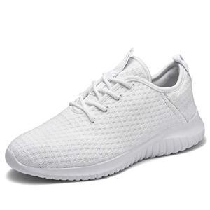 TIOSEBON Women's Lightweight Golf Shoes Breathable Walking Sneakers 6 US All White