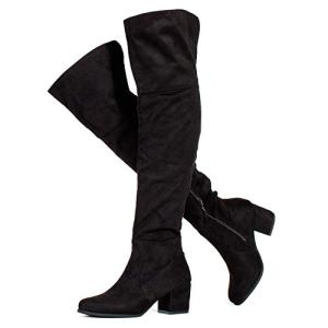 RF ROOM OF FASHION Low Block Heel Pullon Over The Knee Boots