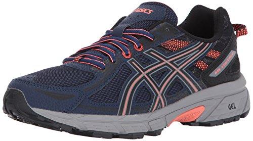 ASICS Women's Gel-Venture 6 Running-Shoes,Indigo Blue/Black/Coral