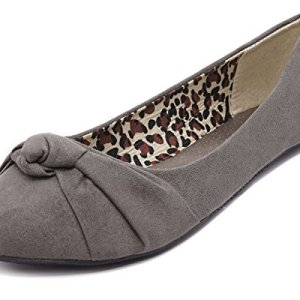 Charles Albert Women's Knotted Front Canvas Round Toe Ballet Flats